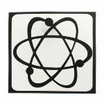 "ATOM Nucleus Sticker Decal For Apple Laptop Air/Pro 3/15/17"" (Black)"