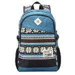 Fashion Tribal Print School Bag Backpacks For Boys And Girls (Blue) (EXPORT)