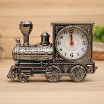 OEM Men Retro Train Office Desk Alarm Clock Birthday Xmas creative Novelty Gift