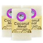 Milea Organic Coconut Meat Scrub Soap Set of 3